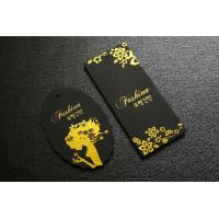 Cheap Hot Stamping Golden Paper Hang Tags Two Paper Picese Black Card Paper wholesale