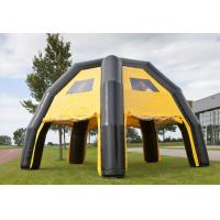 Water Proof Black / Yellow Inflatable Spider Tent For Advertise , 6.8*6.8*4.8m