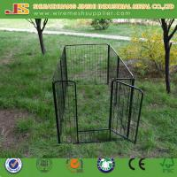6'H x 4'W x 8'L Black Powder Coated Welded Wire Mesh Dog Kennel/Dog Cage