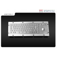 Cheap Industrial Control Panels Vandalproof Stainless Steel Mini Metal Keyboard with Trackball wholesale