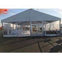 China 200 Person Wedding Party Tent With Lining Curtain Aluminum Structure wholesale
