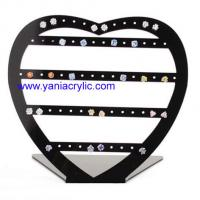 Cheap Fashionable Hardness Heart Shape Perspex Earring Acrylic Jewelry Display wholesale