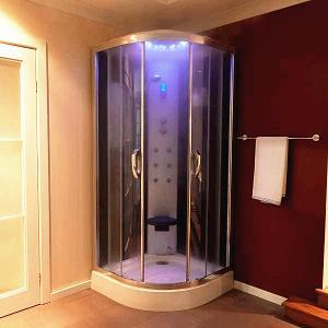 Multi Function Massage Steam Shower Bath Cabin Mirror Glass Back Wall