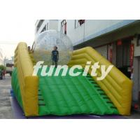 China 0.55mm PVC Tarpaulin Inflatable Zorb Ramp with continue air blower wholesale