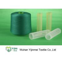 Super Bright Knotless Polyester Dyed YarnWith Dyeing Tube For Sewing / Weaving