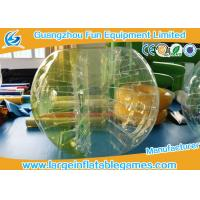 Buy cheap Durable Inflatable Bumper Ball Half Color Human Sized Soccer Bubble 0.7-1.0mmTPU from wholesalers