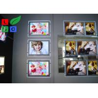 Portrait View Crystal Light Box Display A2 Size With Cable Hanging Kits