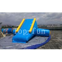 China U / V Shape 0.9mm PVC Tarpaulin Inflatable Big Air Slide For Water Yelow / Blue wholesale