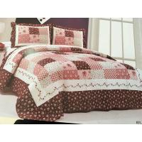Buy cheap Burgundy Color Home Bed Quilts Modern Technics With Matched Printed 240x260cm from wholesalers