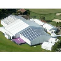 China 15m Width Clear Span Aluminum Frame White Used Event Tent With Air Condition System wholesale