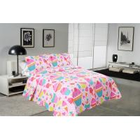 Buy cheap Cake Pattern Printed Quilt Set Washable 240x260 / 260x280cm Bed Cover Sizes from wholesalers