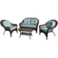 4PCS High End Steel Frame Resin Wicker Patio Furniture Set with Chair / Loveseat / Coffee table