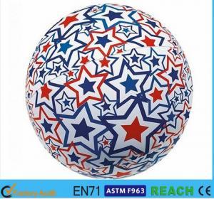 Super Bright Light Up Beach Balls , PVC Vinyl 16 Inch Beach Ball With Lively Printing