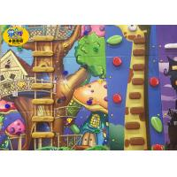 Wholesale price eco-friendly plastic 7*5 secure kids climbing wall