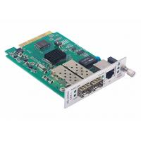 China 1x10/100/1000Base-T to 2x1000Base-X Media Converter Card with Fiber Protection wholesale