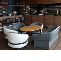 Buy cheap Elegant Restaurant Furniture Urban Armchair With Leather Seat Standard Size from wholesalers