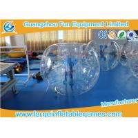 China Inflatable Transparent Human Knocker Soccer Body Bumper 1.2m / 1.5m / 1.8m wholesale