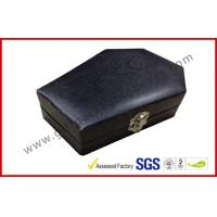 Cheap Wood Grain Jewellery Showing Gift Packaging Boxes , Black Rigid Paper Rings Packaging Boxes wholesale