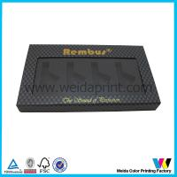 Cheap Black Color Paper Packaging Boxes with Clear Plastic Window wholesale