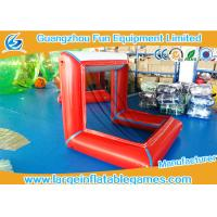 Buy cheap Air Sealed Inflatable Football Pitch Logo Printed / Inflatable Soccer Goal from wholesalers