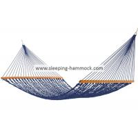 China Porch Blue Rope Hammock XXL Family Size With Deluxe 65 Inches Spreader Bars wholesale