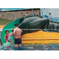 China Water Park Equipment Crocodile Slide , Commercial Small Fiberglass Water Slide wholesale