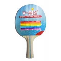 Quality Stripe Color Handle Standard Size Table Tennis Bats With Plywood Yellow Sponge for sale