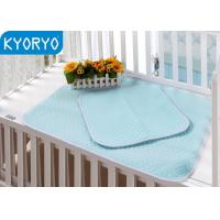 Cheap Baby Blue Comfortable Crib Pad Incontinent Washable and Reusable Pad wholesale
