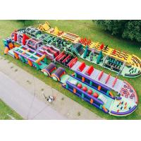 Buy cheap Giant Outdoor Boot Camp Inflatable Obstacle Course , Extreme Run 5k Obstacle Course from wholesalers