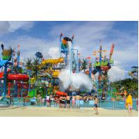 Cheap Holiday Resort Large Water Playground up to 2500sqm, Fiberglass Extreme Slide wholesale