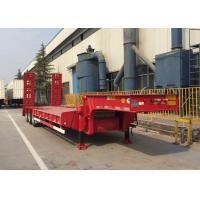 Wholesale Loading Construction Machines Hydraulic Flatbed Trailer 3 Axles 80 Tons 17m from china suppliers