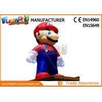 China PVC Coated Nylon 3 - 8m Advertising Inflatables Mario Model / Inflatable Cartoon Characters wholesale