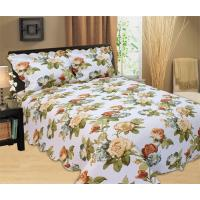 Buy cheap Microfiber Printed Queen Size Bed Quilts , Optional Colors Bed Cover Sets from wholesalers