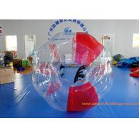 China Soft Handle Red Inflatable Bubble Ball , Inflatable Bumper Balls For Adults wholesale