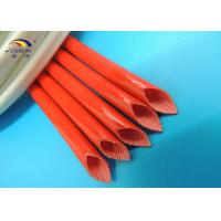 200℃ High Temperature Silicone Resin Coated Braided Fiberglass Sleeve for Electronic
