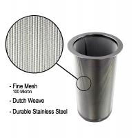 China 18/8 Stainless Steel Cold Brew Coffee Maker Filter Cylinder 8.3cm Top Dia wholesale