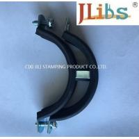 M8 + 10 Nut Steel Galvanized Galvanized Pipe Hangers Pipe Clamp With Rubber