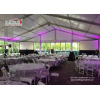 China Commercial Outdoor Glass Wall  Event Tents Catering Rental Tent Roof Linning wholesale