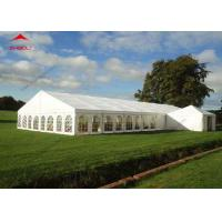 China 300 Seater Outdoor Event Tent With Transparent PVC Window / Large Garden Wedding Tent wholesale