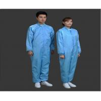 Quality Safety Clean Room Garments Stand Collar ESD Coverall For Printing Industry for sale