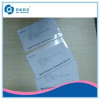 Cheap Plastic Card Printing CR80 PVC Business Card With Signature Area / Signature Pannel wholesale