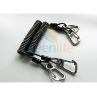 Buy cheap High Security Steel Reinforced 125MM Long Black Plastic Stertch Coiled Bungee Cable from wholesalers