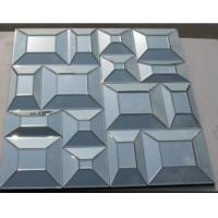 Cheap Square Bevelling Decorative Glass Mirrors , Silver Antique Art Mirror For Hotel wholesale