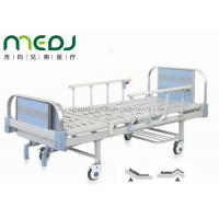 China Double Crank Blue Hospital Bed Equipment MJSD05-09 With Four Ordinary Castors wholesale