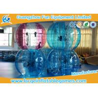 China Blue / Green / Pink Human Sized Bubble Ball Inflatable Hamster / Fuzzy Football wholesale