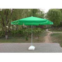 Green Round Outdoor Patio Umbrellas , Professional Beach Umbrella With Fringe