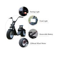 China 1200 W Two Wheels Electric Scooter , 2 Wheel Motor Scooter With Removable Battery wholesale