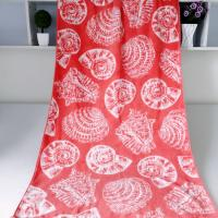 China Seashell Linen Beach Towels / 100% Combed Cotton Bath Towel For Silver Wamsutta wholesale
