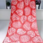 China Seashell Linen Beach Towels / 100% Combed Cotton Bath Towel For Silver Wamsutta wholesale