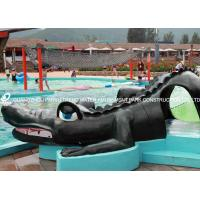 China Small Fiberglass Water Pool Slides For Kids , Water Park Equipment Crocodile Slide wholesale